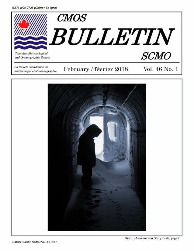 Vol.46 No.1 cover CMOS Bulletin