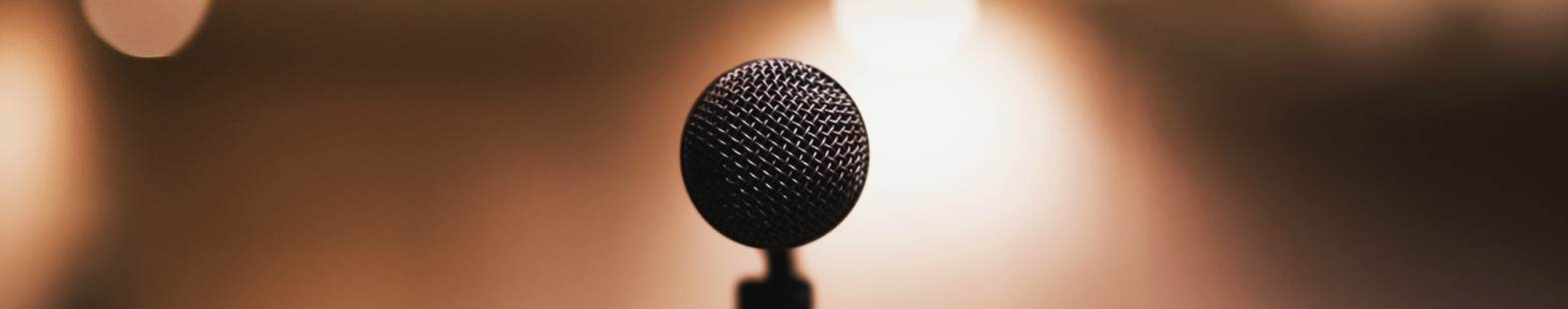 Photo shows a microphone for the story by the CMOS president on advocating for science.