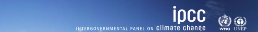 CMOS Members Area, call for contributions to IPCC panel. Image is blue sky with IPCC logo.