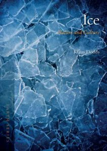 Book Cover of Ice by Klaus Dodds shows an abstract image of blue fragments of ice