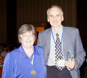 Terry Gillespie and Susan Woodbury with the Andrew Thomson prize