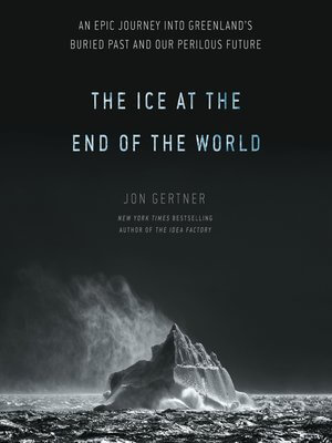 Cover image of Ice at the End of the World shows a black and white image of an iceberg