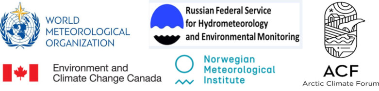 Logos of participating Arctic meteorological organizations